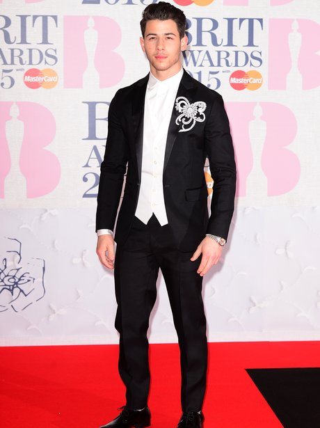 Nick Jonas BRIT Awards 2015 Red Carpet