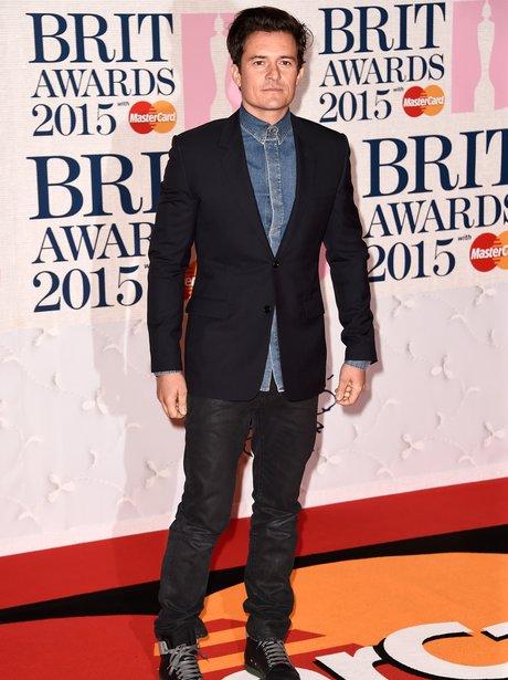 Orlando Bloom BRIT Awards 2015 Red Carpet