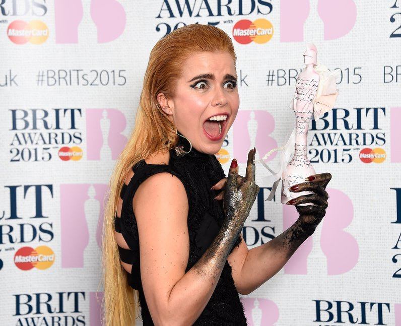 Paloma Faith BRIT Awards  2015 Backstage