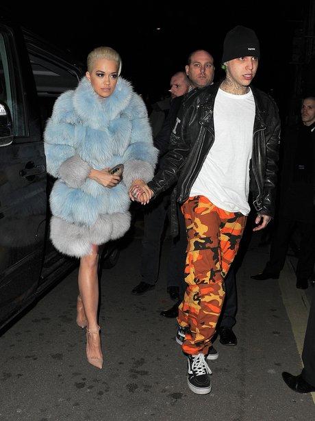 Rita Ora Fur Coat and Ricky Hillfiger