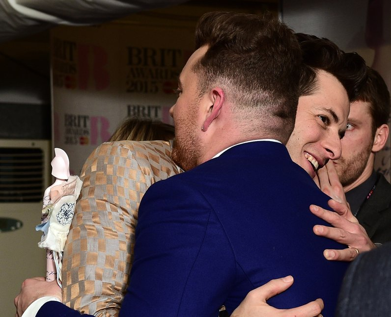Sam SMith and Mark Ronson BRIT Awards 2015