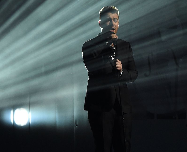 Sam Smith BRIT Awards Red Carpet 2015 Performance