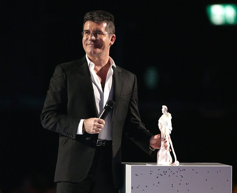Simon Cowell BRIT Awards 2015 On Stage