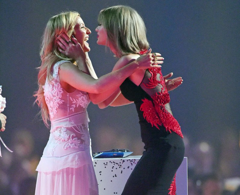 Taylor Swift and Ellie Goulding BRIT Awards 2015