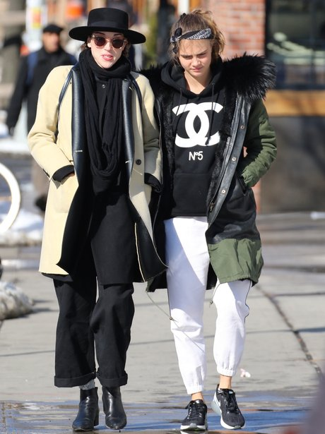 Cara Delevingne and St Vincent in New Yorl