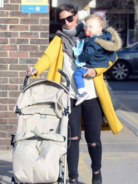 Frankie Sandford Baby Bump and Parker
