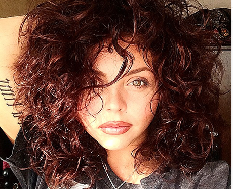Jesy Nelson with curly hair