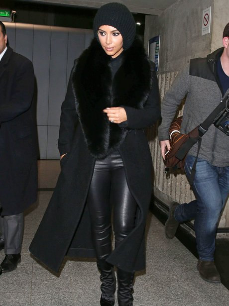 Kim Kardashian All Black Outfit Paris