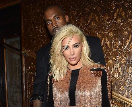 Kim Kardashian Blonde Hair and Kanye