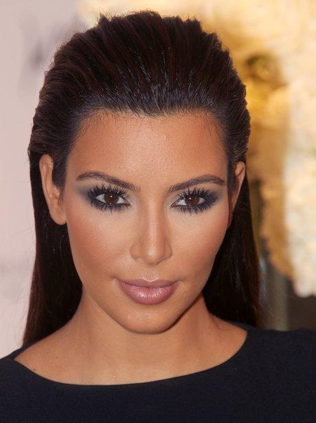 Kim Kardashian Sleeked Back hair