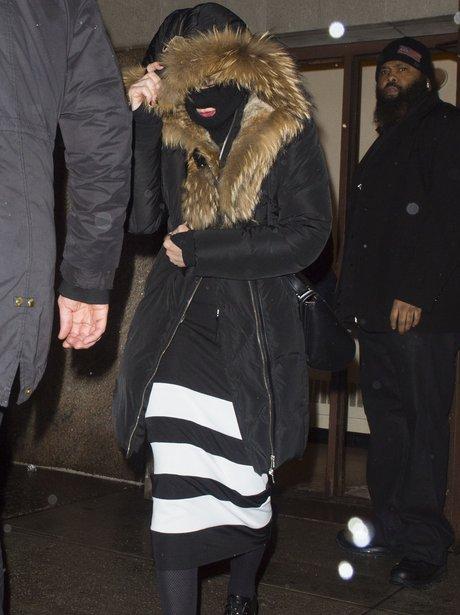 Madonna Hiding  behind a Balaclava