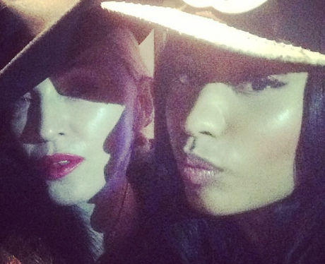 Madonna Nicki Minaj Instagram hats