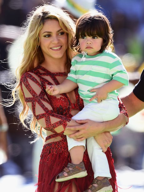Shakira with her son