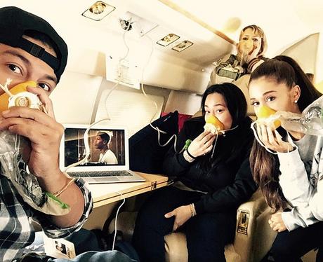 Ariana Grande Plane Ride Instagram