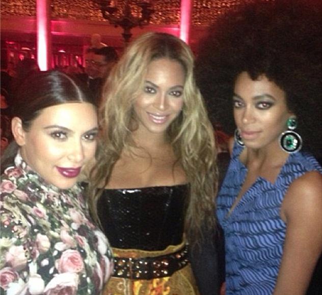 Beyonce Solange Knowles & Kim Kardashian