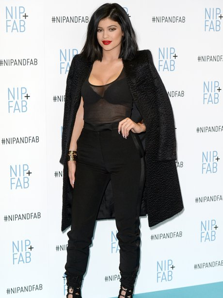 Kylie Jenner See Through All Black Outfit