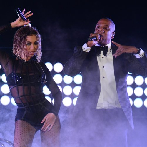 Jay-Z and Beyonce on stage together