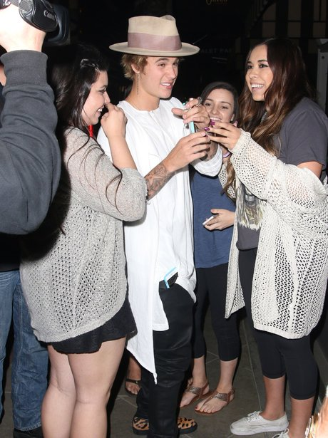 Justin Bieber with Fans