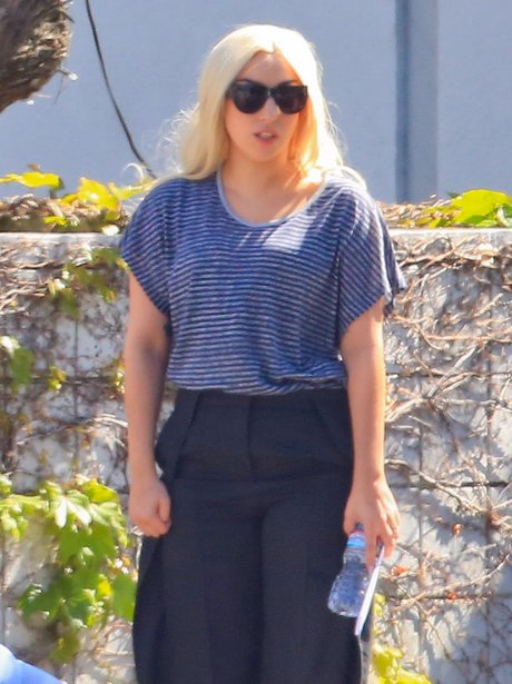 Lady Gaga dressed in casual clothes