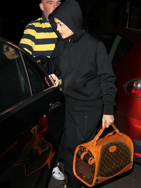 Rita Ora with Louis Vuitton bag