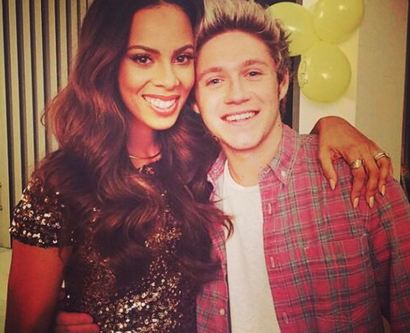 Rochelle Humes with Niall Horan