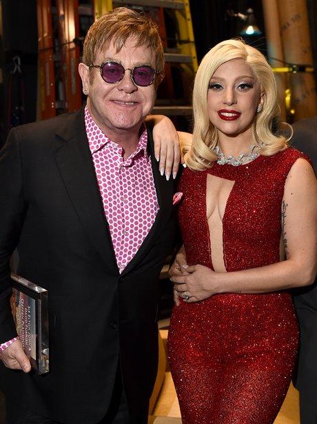 Sir Elton John and Lady Gaga