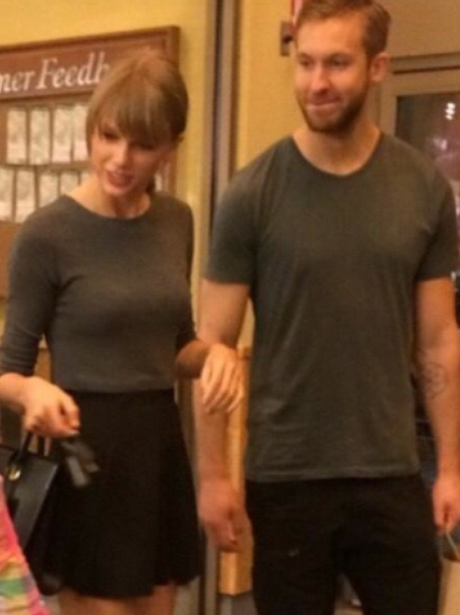Taylor Swift and Calvin Harris (twitter)