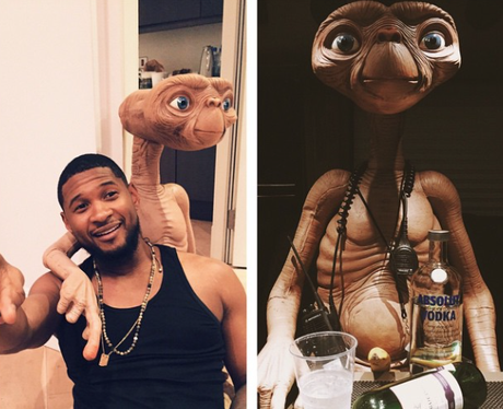 Usher and ET