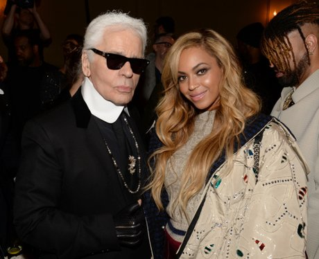 Karl Lagerfeld and Beyonce