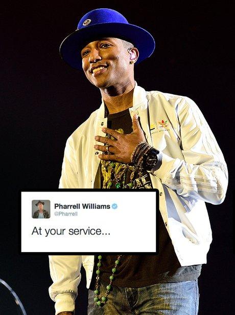 Pharrell 'At Your Service' Tweet