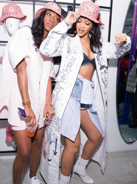 Rihanna and Melissa Forde at launch event