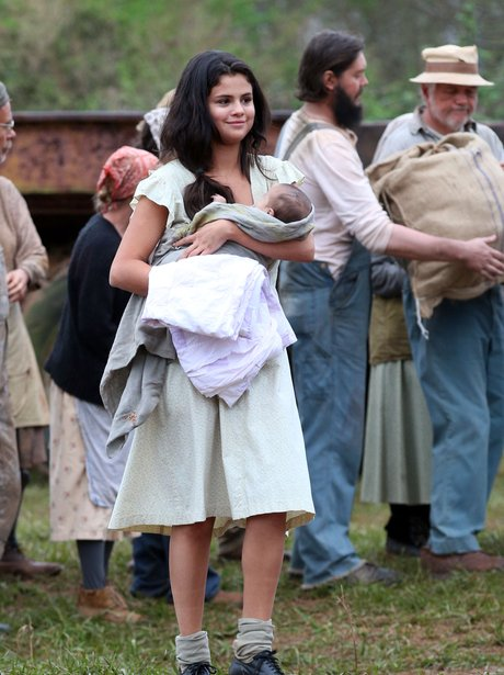 Selena Gomez On Set With A Baby
