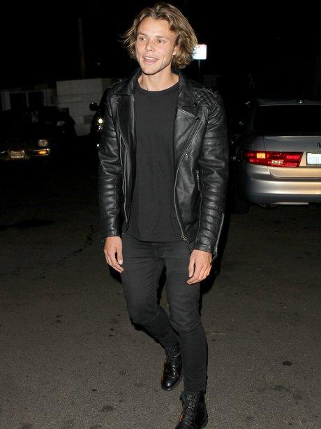 Ashton Irwvin wearing all black