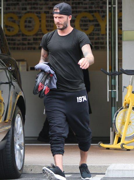 David Beckham Leaving Gym