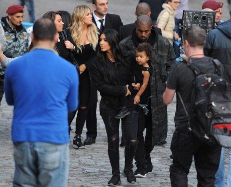 Kim Kardashian, Kanye West and North