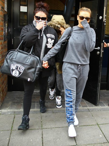 Little Mix wearing tracksuits