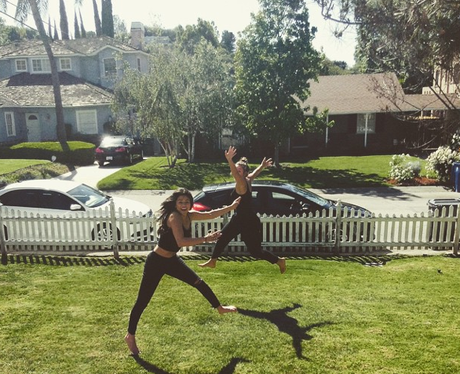 Selena Gomez jumping