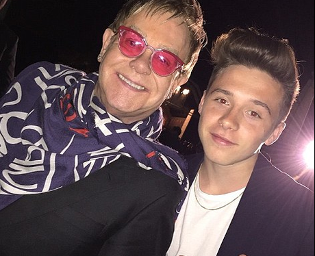 Brooklyn Beckham and Elton John