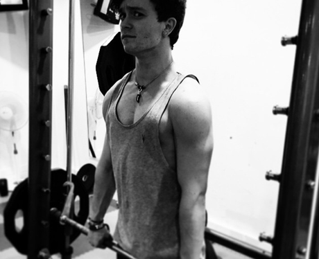 Conor The Vamps in the gym
