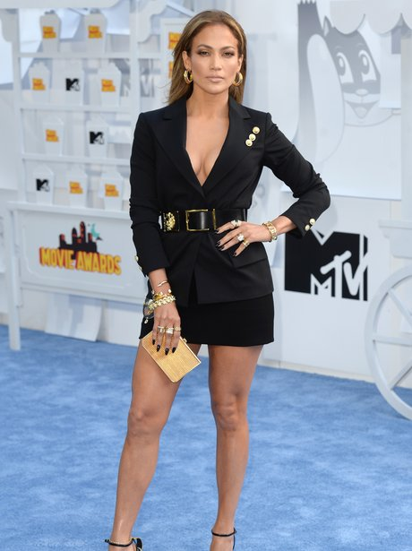 Jennifer Lopez attened the MTV Movie Awards. Picture: Getty