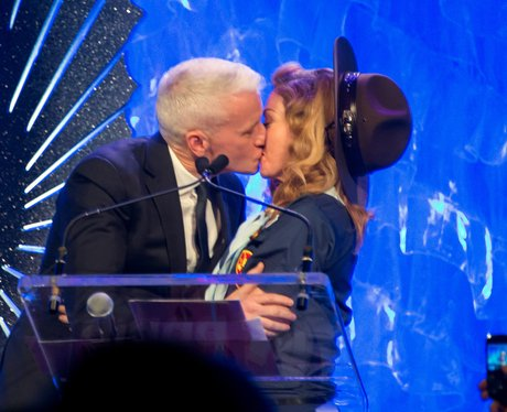 Madonna and Anderson Cooper Kiss
