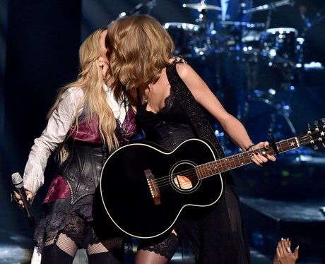 Madonna and Taylor Swift iHeart Radio 2015 Kiss