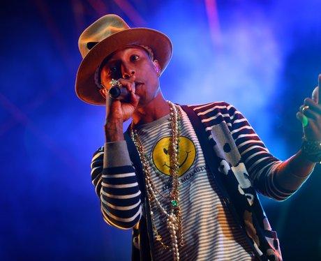 Pharrell Williams at Coachella Festival 2015