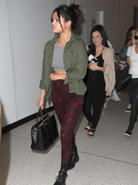 Selena Gomez at the airport