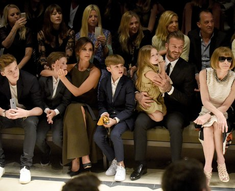 The Beckhams Front Row Burberry Event