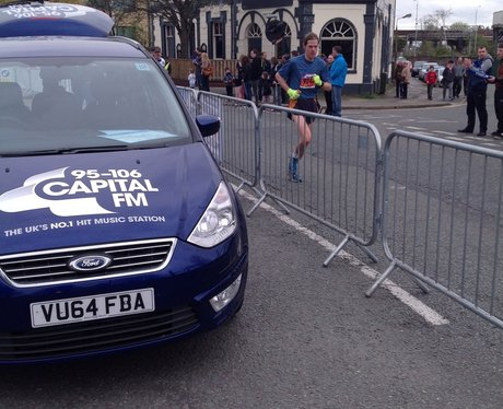 Capital FM at the Manchester Marathon Part 1.