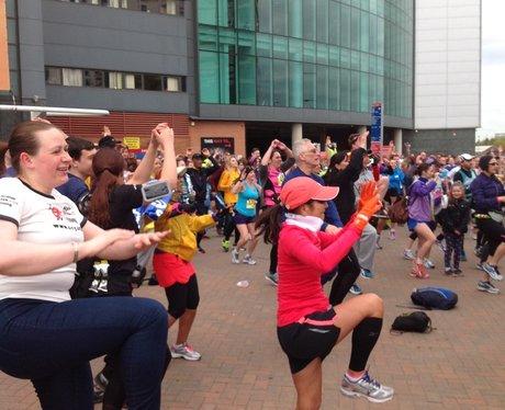 Capital FM at the Manchester Marathon Part 2.