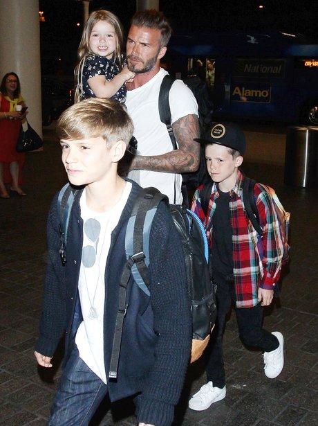 David Beckham and Children