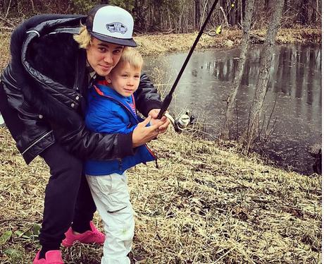 Justin Bieber fishing