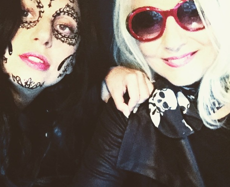 Lady Gaga with facepaint